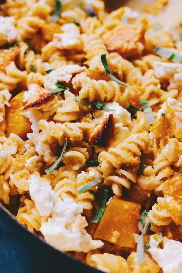 Baked Feta and Butternut Squash Pasta