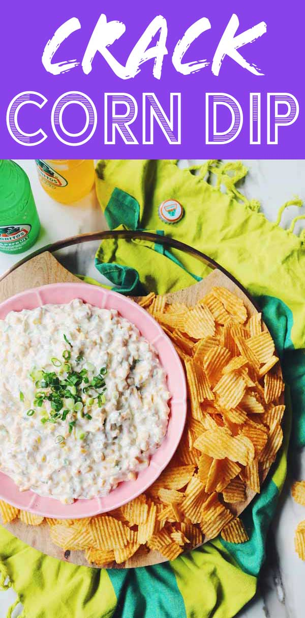 No offense to the other crack corn dip recipes out there, but this takes the cake! Canned corn, cheddar cheese, sour cream, pickled jalapeños and canned chiles get whipped up with a packet of ranch seasoning. The result is a rich and creamy, slightly spicy, and ultra addictive corn dip that will have everyone begging for more. And best of all - it takes less than 10 minutes to make!
