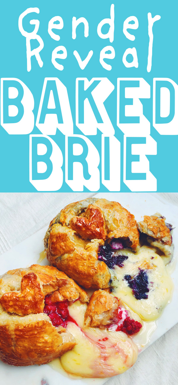 gender reveal baked brie