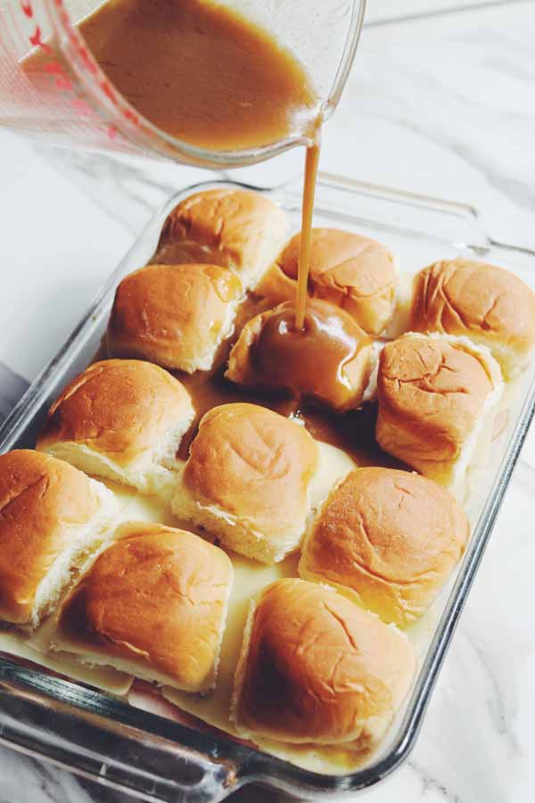 ham and cheese sliders with brown sugar
