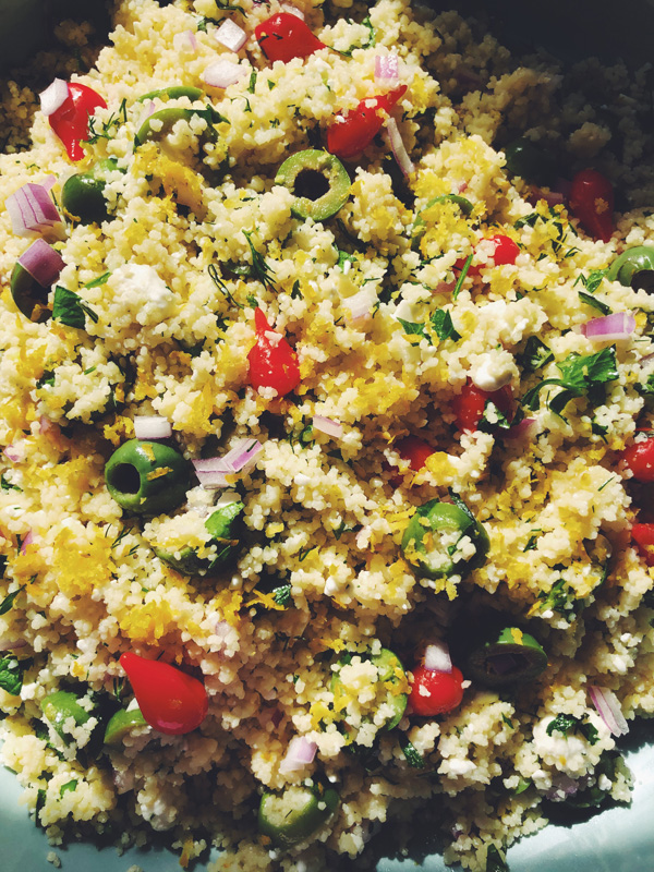 how to make lemony couscous
