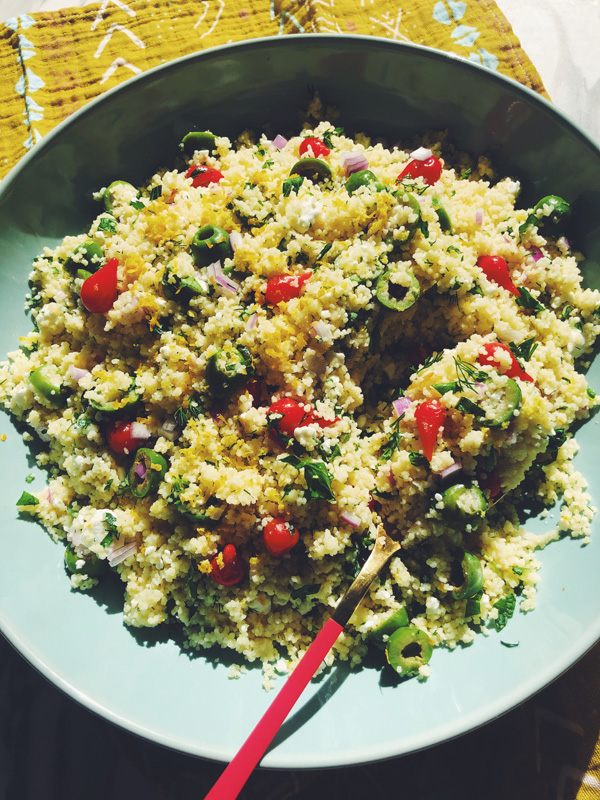 olive oil and lemon couscous