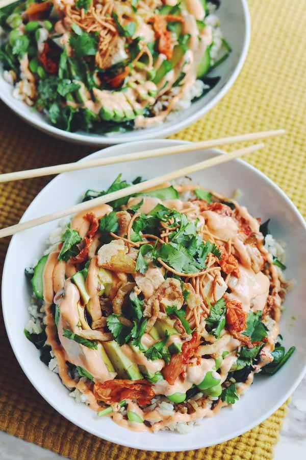 vegetarian poke bowl