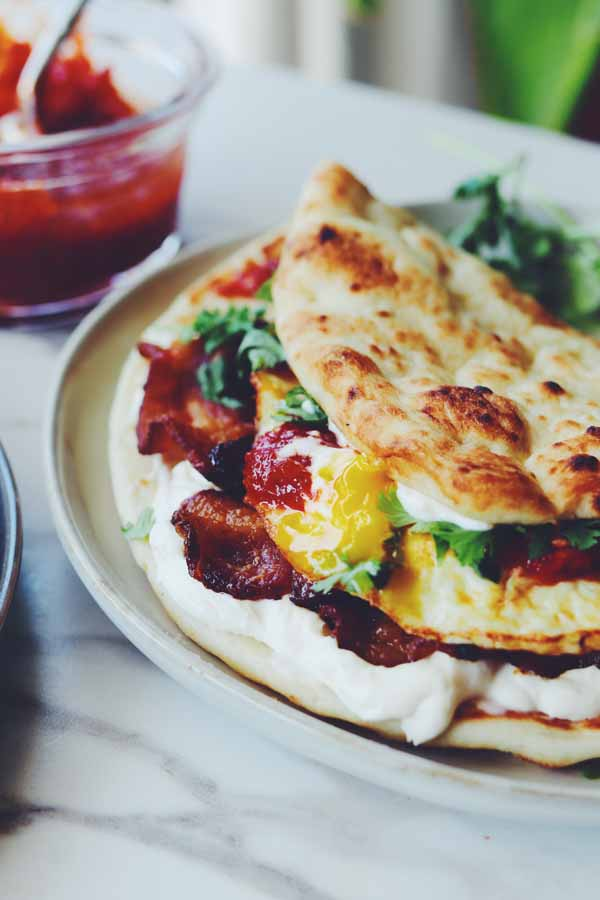 dishoom naan breakfast sandwich
