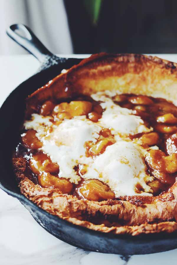 bananas foster dutch baby