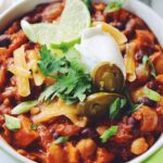 cheesy sweet potato black bean chili