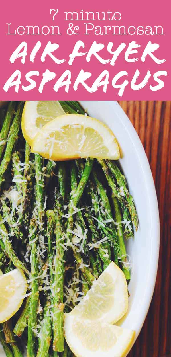 This air fryer asparagus recipe is one of the most easy, delicious, and best ways to cook asparagus. This entire vegetarian side dish can be made in under 10 minutes with minimal ingredients. You'll love how the cheesy lemony crust balances out the earthiness of the asparagus. It'll be your new go-to easy side dish for Spring!