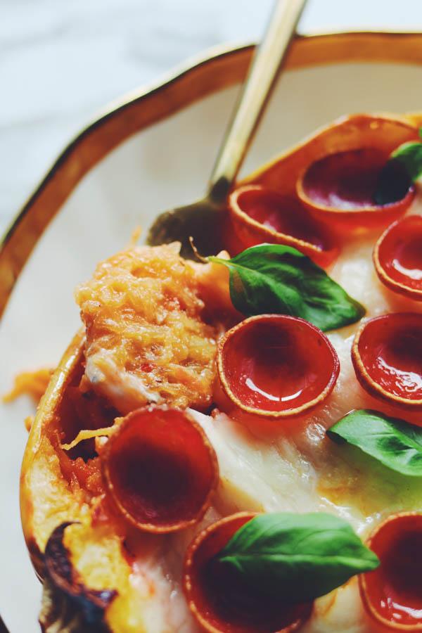 spaghetti squash pizza casserole boats