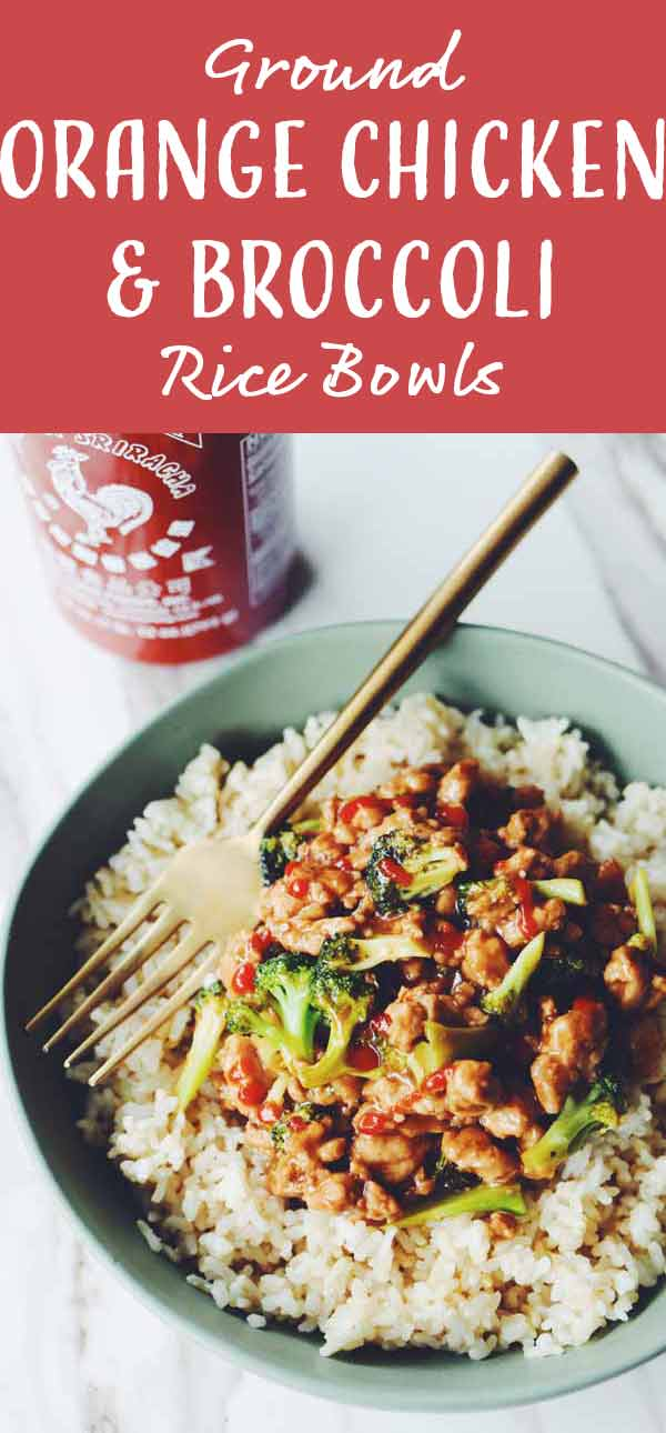 This ground orange chicken and broccoli recipe is the perfect quick and easy answer to a takeout meal at home. Best of all it takes less than 20 minutes to make and uses only 1 pot so prep and cleanup are both a breeze!