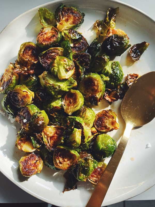 honey sriracha brussel sprouts