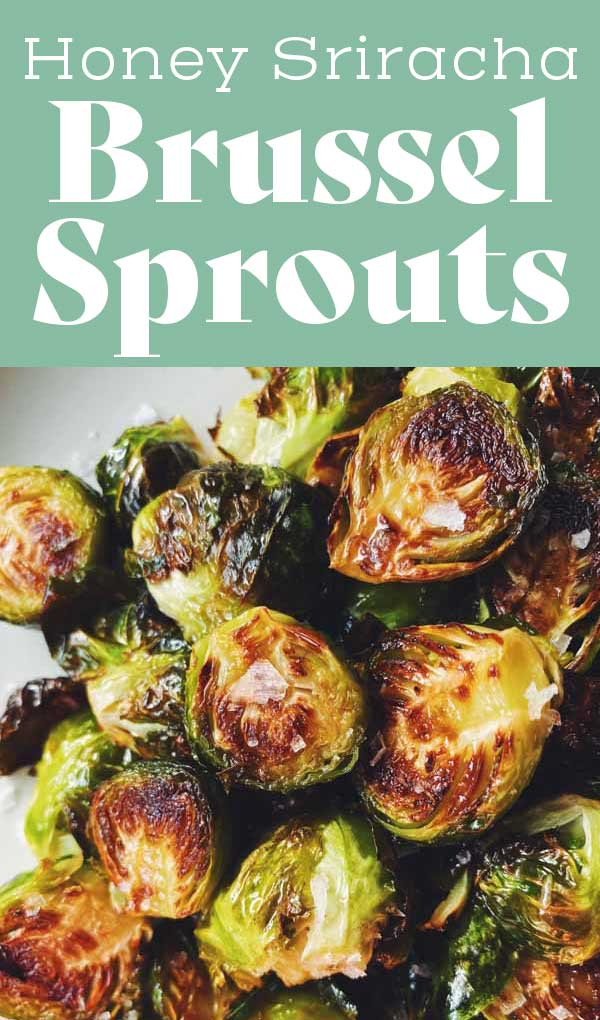 This honey sriracha brussel sprouts recipe is so quick and easy! With just four ingredients, they come out sweet, spicy, and super crispy! You'll love how incredibly delicious this vegetarian side dish is!