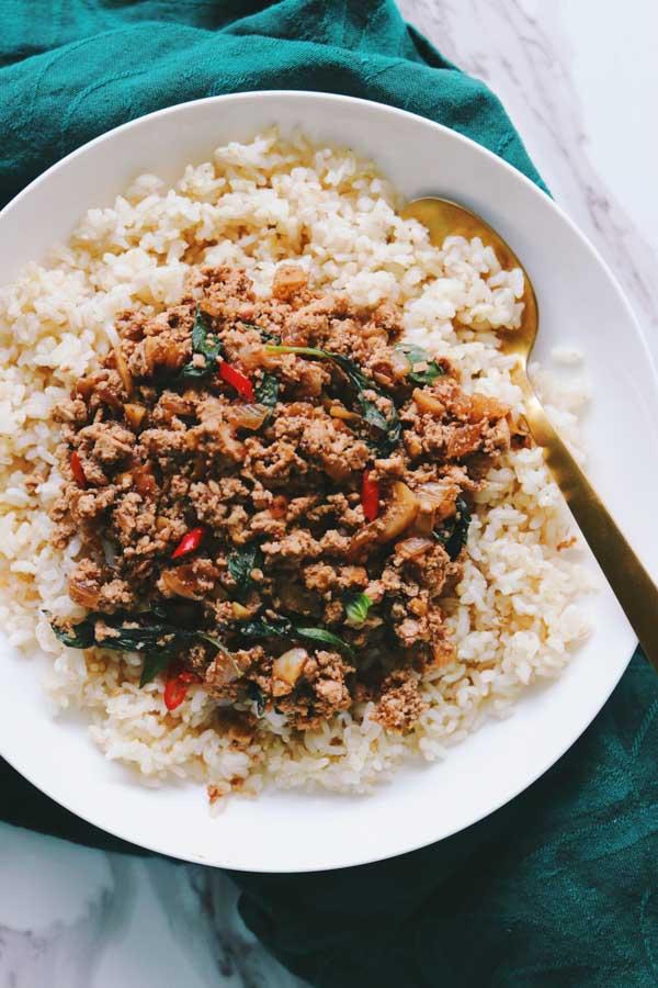 thai basil tofu