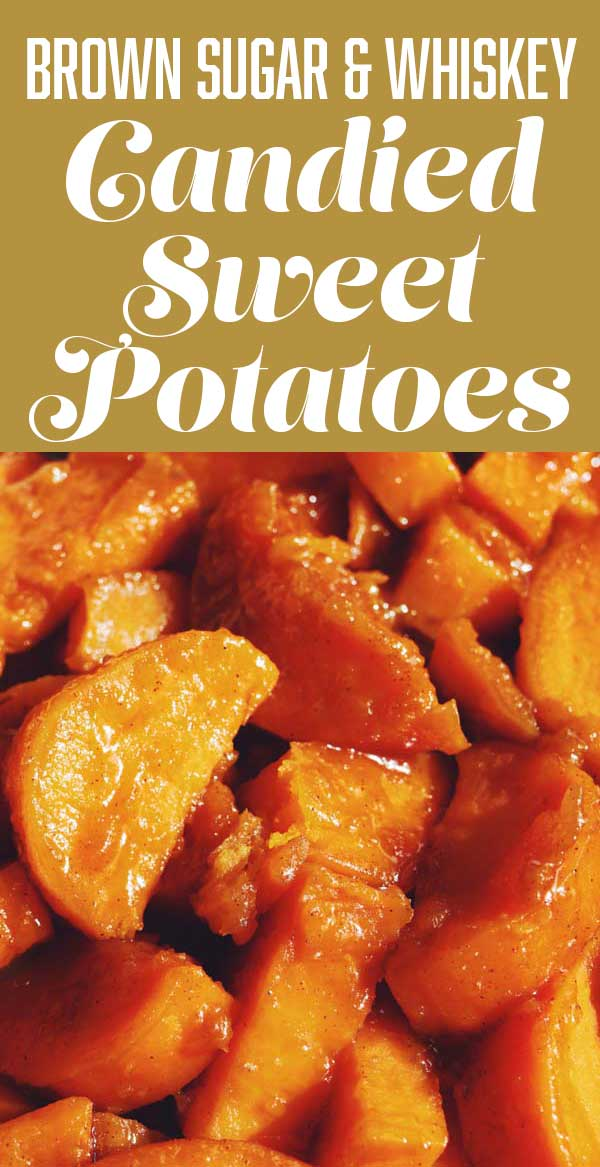 These old fashioned candied sweet potatoes will be the star of your meal! The sweet and sticky brown sugar bourbon glaze caramelizes onto the sweet potatoes to create a bright, sweet and slightly tangy glaze that is unbeatable! Whether they're on your holiday table or paired with a weeknight dinner, you'll love this one pan vegetarian side dish!