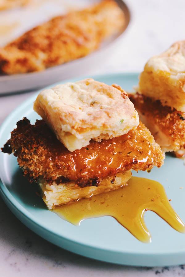 hot honey chicken biscuits