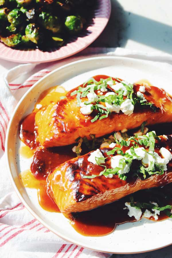 apricot candied salmon
