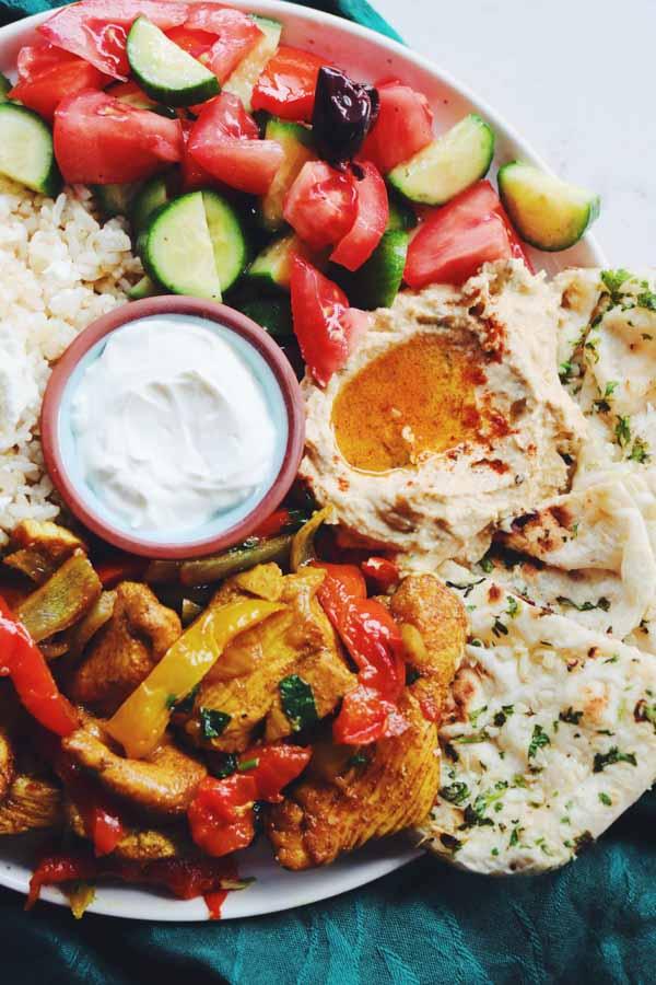 sheet pan shawarma plate
