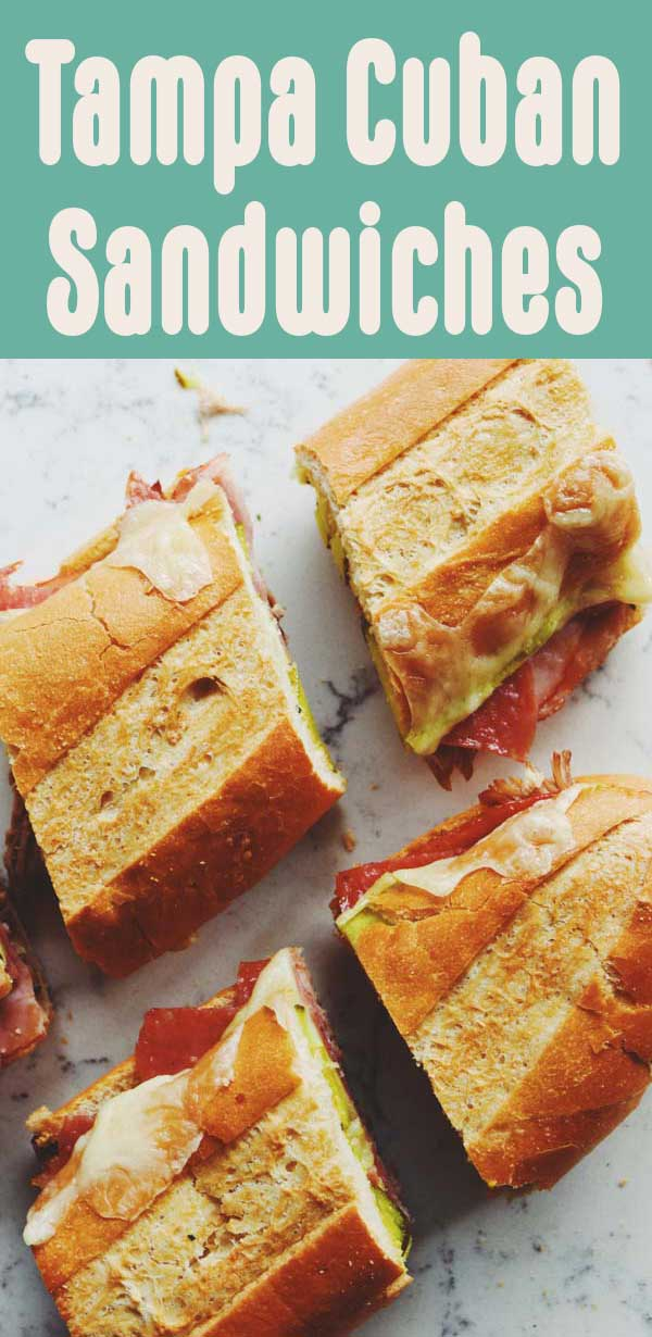 Our Smith Family Tampa Cuban Sandwiches are a family tradition! Unlike the traditional recipe, we add salami and an herby garlic butter that makes the whole sandwich even more flavorful. They're made in under 15 minutes and baked in the oven for convenience. I hope you love them as much as we do!