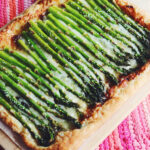 cheesy asparagus puff pastry