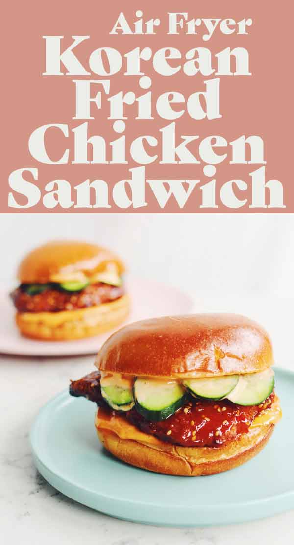korean fried chicken sandwich