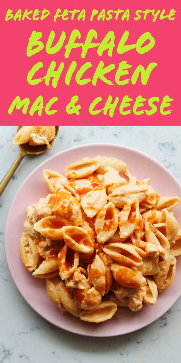 It's time for the Best Baked Buffalo Chicken Mac and Cheese (with blue cheese!). Using the baked feta pasta method, this ooey gooey speecy spicy mac n cheese recipe is ridiculously delicious! To make it, you'll need Chipotle Havarti, Blue Cheese, shredded chicken, buffalo sauce, milk, cream cheese and pasta! Not only is this recipe so SO good, incredibly easy and ready in under 30 minutes, but the Chipotle Havarti adds the perfect smoky, spicy and creamy texture that makes this recipe pop off!