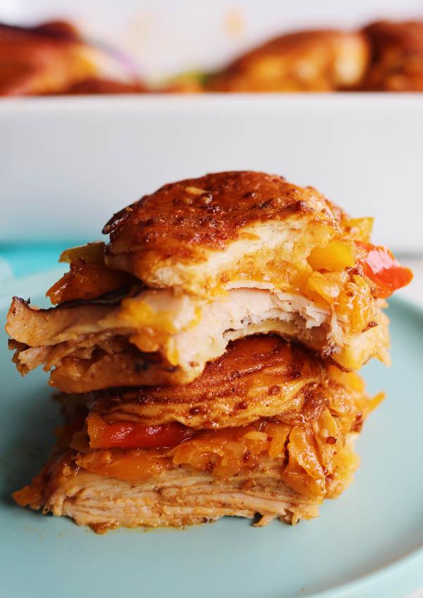 smoked turkey cheddar slider sandwiches