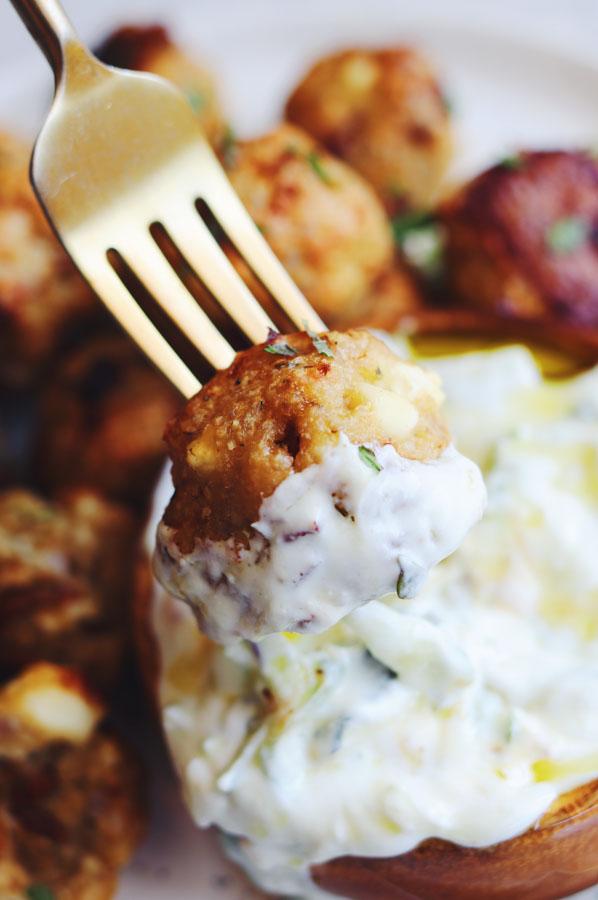 mediterranean chicken meatballs