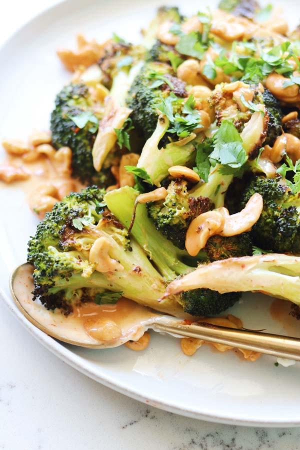 Bang Bang Broccoli on a plate
