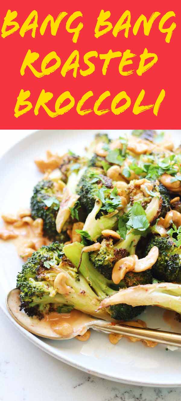 This bang bang broccoli is the ultimate side vegetarian dish. It's creamy, crunchy, spicy and SO GOOD! And if you switch out the mayo for nonfat Greek yogurt, it can even be healthy! It pairs perfectly with grilled meats and plenty of Asian inspired dishes!