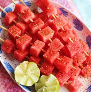 watermelon with tajin