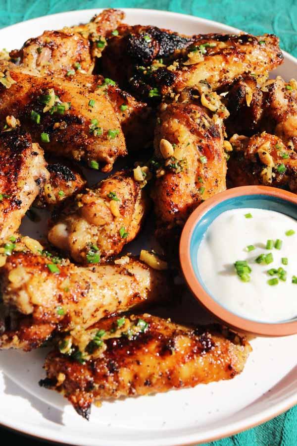 grilled lemon pepper chicken wings