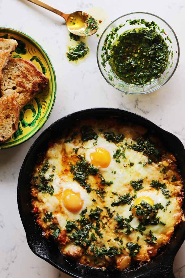 huevos con chorizo
