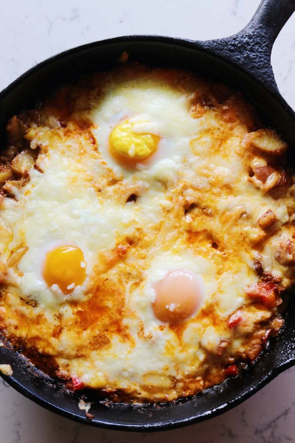 baked eggs with manchego