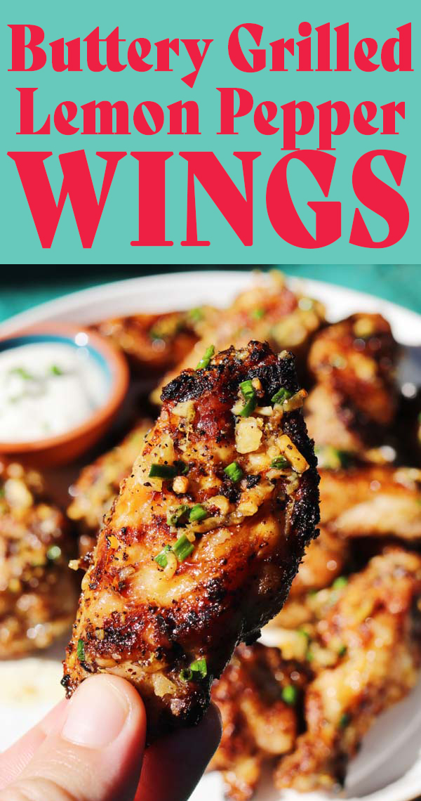 These grilled lemon pepper wings are the only wing recipe you'll need! They're crispy, tender, and packed full of buttery, lemon pepper goodness! What sets these apart is the lemon garlic butter that the wings are tossed in! It adds so much flavor and richness and sticks to the wings like honey!