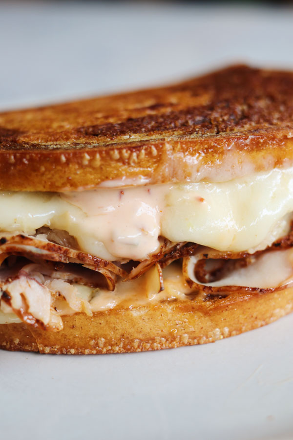 turkey pastrami sandwich