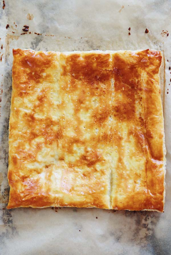 puff pastry with egg milk wash