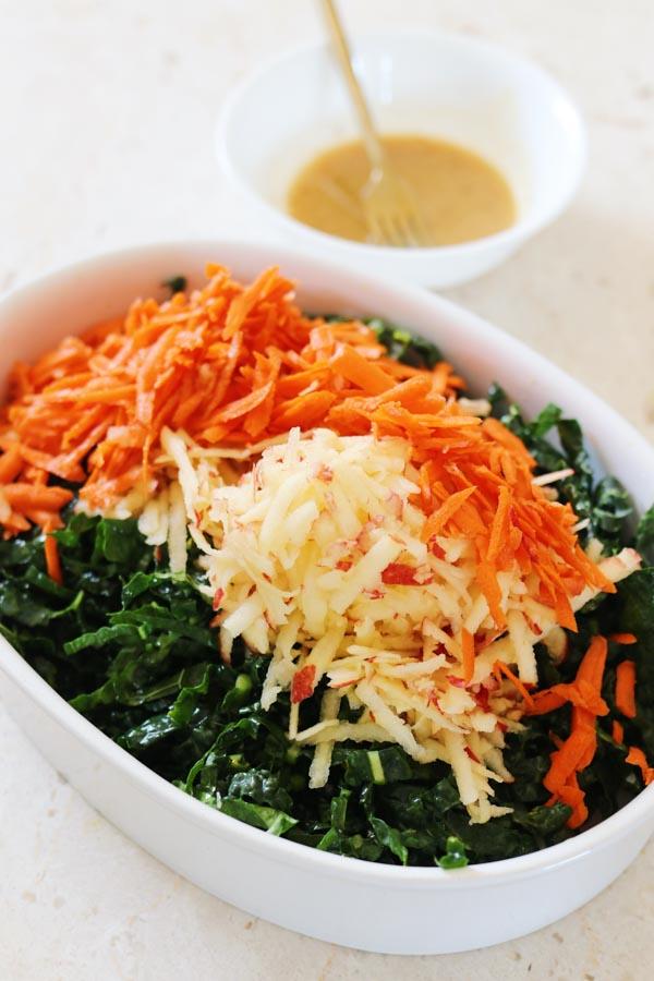 shaved lacinato salad